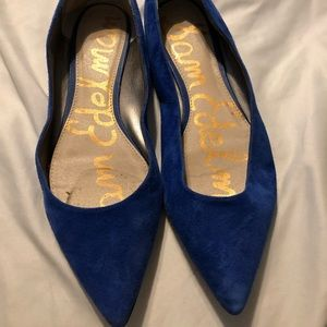 Cobalt Blue Sam Eldelman Pointed Flats Size 8M